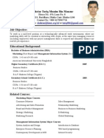 CV of Shahriar Tariq