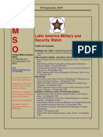 FMSO JRIC Latin America Military and Security Watch 09 September 2009
