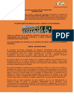 Valores Institucionales en El Ejercito Ecuatoriano - Lectura Recomendada - CEDE
