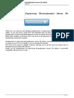 Fundamentals of Engineering Thermodynamics Moran 7th Edition