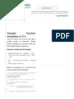 Variadic function templates in C++
