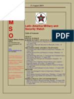 FMSO JRIC Latin America Military and Security Watch 31 August 2009