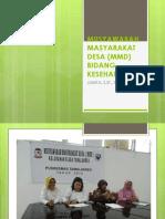Musyawarah Masyarakat Desa (Mmd) Bidang Kesehatan