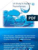 Research Study in Aquatic Physiotherapy