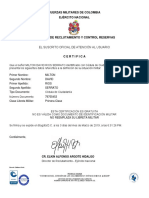 Certifica Do Libre Ta Militar
