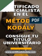 Certificado Kodaly