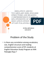 Ppt Thesiscorrelation Among Vocabulary Size, English Structure And