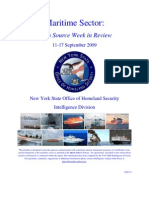 New York State Office of Homeland Security Maritime Sector Open Source Week in Review 11 - 17 September 2009