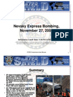 NYPD CTD Nevsky Express Bombing November 27 2009