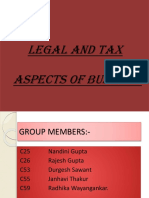 Legal and Tax Aspects of Business