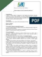 Tre Ba Normas Para Publicacao 2019 Populus