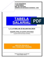 Tabela Salarial Lei 2015 Reajuste