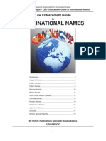ROCIC Law Enforcement Guide to International Names
