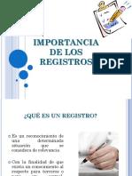 Importancia de Los Registros