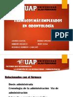 ODONTOLOGIA FARMACOLOGICA