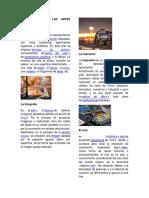 Clasificacion de Las Artes Visuales