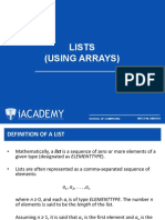 02 Lists (Using Arrays)