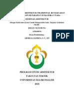 SKRIPSI IDENTIFIKASI ARSITEKTUR TRADISONAL RUMAH ADAT BATAK BOLON DI PRAPAT SUMATERA UTARA.docx