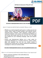 Leisure & Entertainment Email List .pptx