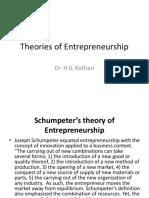 Theories of Entrepreneurship New