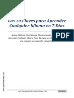 Las 10 Claves para Aprender Cualquier Idioma en 7 días.pdf