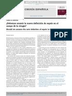 Nueva Definicion de Sepsis en Cirugia