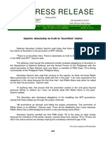 DND-OPA - Press Release - Absolutely No Truth to Favoritism' Claims - 29 October 2010