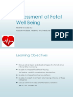 Assessment of Fetal Wellbeing