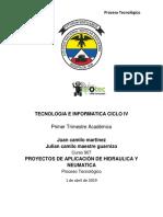 Tecnologia e Informatica Ciclo IV Primer Trimestre Académico