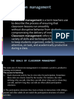 The Goals of Classroom Management