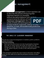 The Goals of Classroom Management