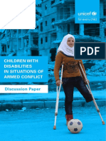 Children With Disabilities in Situations of Armed Conflict-Discussion Paper