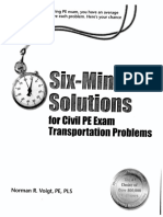 Six-Minute Solutions - Transportation for NCEES PE Civil Exam