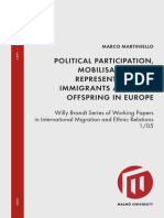 Political Participation, Mobilisation and Representarion of Immigrants