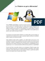 Linux Frente a Windows en Qué Se Diferencian