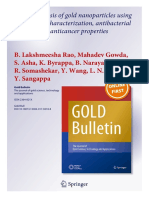 Rapid synthesis of gold nanoparticles using silk fibroin