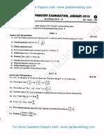 2nd PUC Mathematics Jan 2018