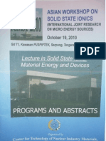 Solid State Ionics (International Joint Research on Micro Energy Sources)