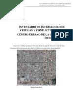 Inventario de Intersecciones Criticas y Conflictivas