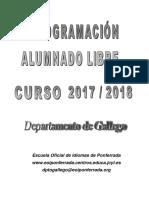 9-Dpto Gallego-Programacion Libres Gallego 2017-18