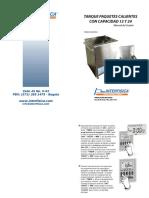 Manual tanque de paquetes calientes interfisica