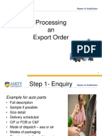 Export Process & Documentation