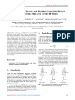 Resonant Properties of RF Frequency/Bones - Essay