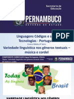 Variedade linguística nos gêneros textuais letra de música e cordel..ppt