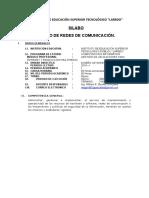 SILABUS REDES DE COMUNICACIÓN