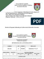 Programa de Derecho