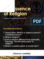 Intro to Religion