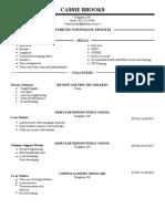 cyc resume