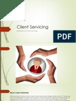 Client Servicing PPT