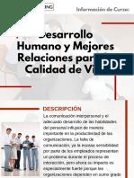Curso de Desarrollo Humano y Mejores Relaciones para la Calidad de Vida